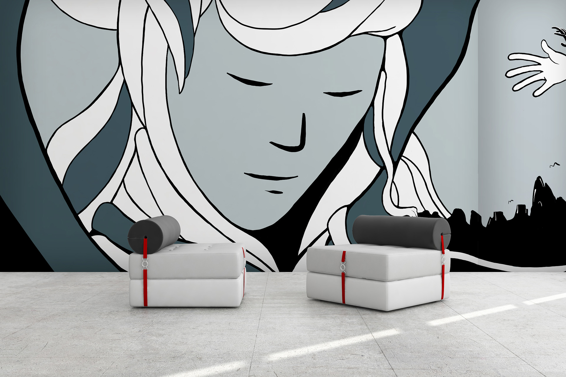 Grapevine Wall murals and large format